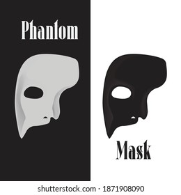 Mask Phantom logo design vector and icon illustration inspiration