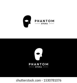 mask phantom opera logo design vector icon illustration inspiration