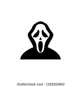 mask scream icon. Element of ghost elements illustration. Thin line  illustration for website design and development, app development. Premium icon on white background