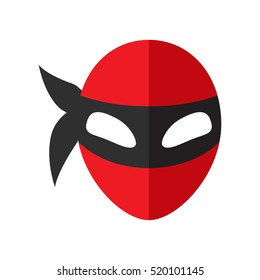 Mask super hero icon in a flat style. Carnival mask for the holidays. vector illustration. easy to use