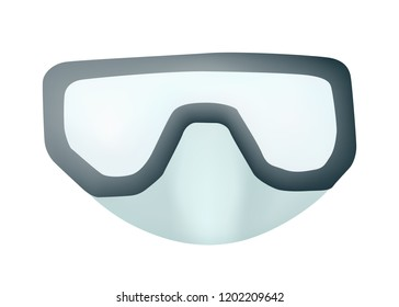 Mask for swimming. Outdoor activity. Vector illustration