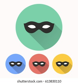 Mask vector icon. Illustration isolated for graphic and web design.