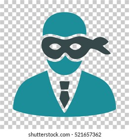 Masked Thief icon. Vector pictograph style is a flat symbol, color, chess transparent background. Designed for software and web interface toolbars and menus.