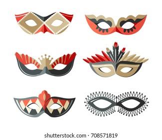 Masks carnival italian masquerade
