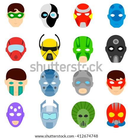 Masks Superheroes Villains Fictional Fictional Superheroes Stock