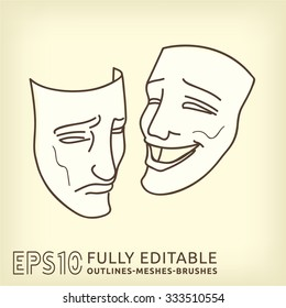 Masks. Symbol of theatre.