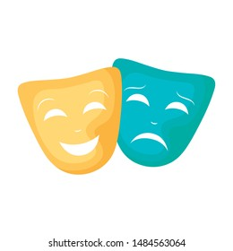 masks theater traditional isolated icon