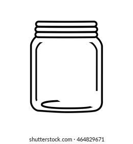 mason jar glass rustic can icon. Isolated and flat illustration. Vector graphic