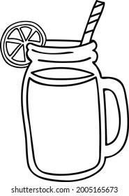 Mason Jar Lemonade Vector Art