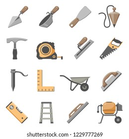 Masonry Tools Icon Set
