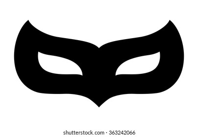 Masquerade / carnival disguise mask flat vector icon for apps and website