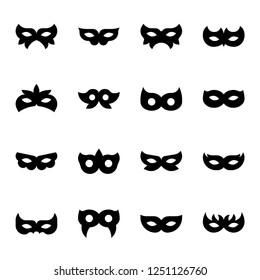 masquerade mask icon for celebration, silhouette design