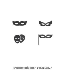 masquerade vector icon illustration design