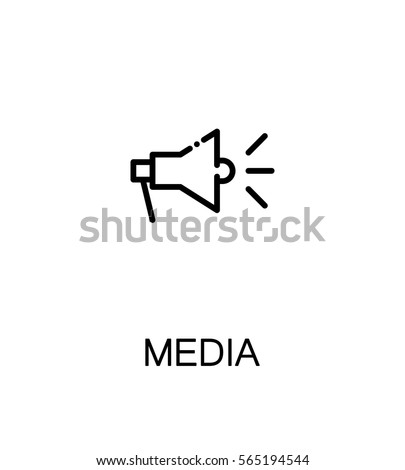 Mass Media Icon Single High Quality Stock Vector Royalty Free