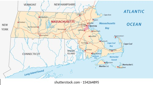 massachusets map