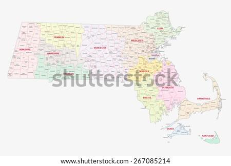 Map Of Machusetts Counties on