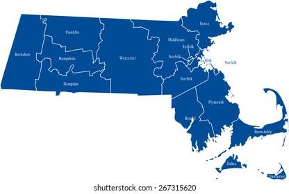 Massachusetts Map Images Stock Photos Vectors Shutterstock