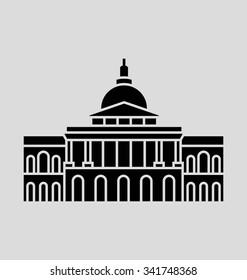 Massachusetts Solid Vector Illustration