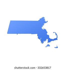 Massachusetts state border,map