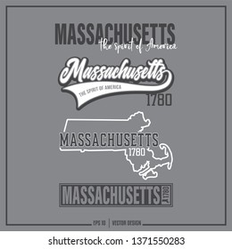 Massachusetts, Massachusetts state slogan - The Spirit of American, USA, United States