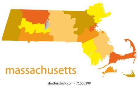 massachusetts state vector map