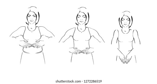 Stomach Pain Sports Stock Illustrations Images Vectors