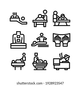massage icon or logo isolated sign symbol vector illustration - Collection of high quality black style vector icons