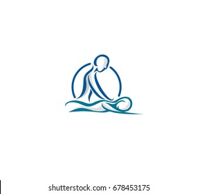 Massage icon, relaxing , leisure, vector icon