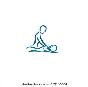 Massage icon, vector illustration