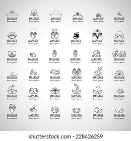 Massage Icons Set - Isolated On Gray Background - Vector Illustration, Graphic Design Editable For Your Design