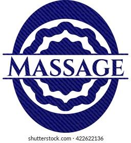 Massage jean background