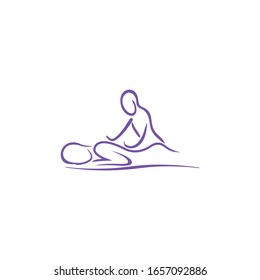 Massage logo , icon, relaxing , leisure, vector
