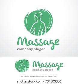 Massage Logo Template Design Vector, Emblem, Design Concept, Creative Symbol, Icon