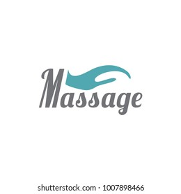 Massage. Template for logo