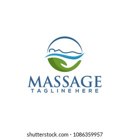massage therapy logo vector illustration