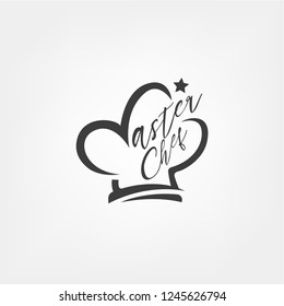 Master Chef logo template in Chef hat concept