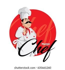 Master chef vector character illustration