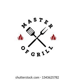 master of grill logo design