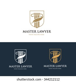 Master Lawyer Logo template.