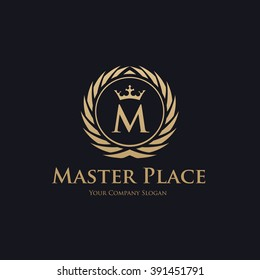 Master Place Ornament Luxury Logo Template