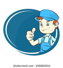 Master in uniform for repair illustration