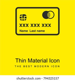 Mastercard bright yellow material minimal icon or logo design