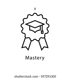 Mastery Vector Line Icon