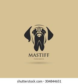Mastiff dog symbol - vector illustration