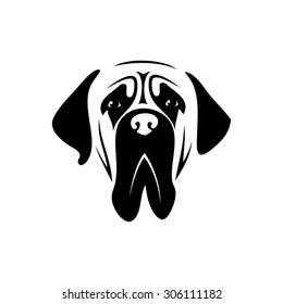 Mastiff dog - vector illustration