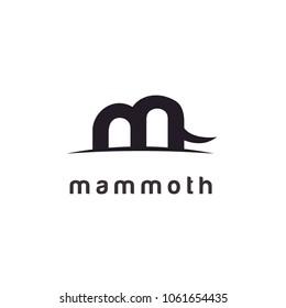 Mastodon Mammoth / Initial M logo design inspiration