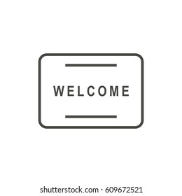 mat outline icon vector