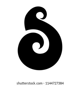 Matau. Maori symbol, fish hook, represent prosperity, abundance, fertility and strength