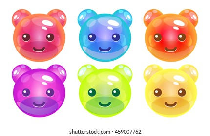 Match 3 Teddy Bears Characters Mobile Game Assets
