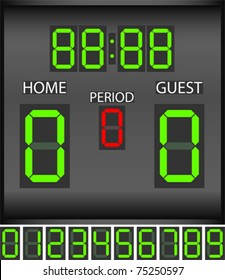 Match digital scoreboard - vector